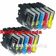10pk Ink Set Combo For Brother LC61 LC-61 MFC 250C 255CW 290C 295CN 490CW 495CW