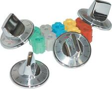 CAMCO 00903 UNIVERSAL SET 4 CHROME ELECTRIC TOP STOVE RANGE BURNER KNOBS 6838668