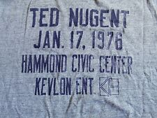 TED NUGENT T Shirt FLIP SIDE & HEGEWISCH 1976 ROCK PSYCH BLUES FOLK COUNTRY POP