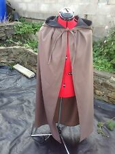 hooded cloak brown. Black  lined hood more colours available