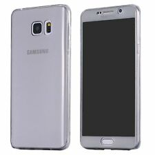 Shockproof TPU 360° Protective Clear Rubber Soft Case Cover For Samsung iPhone 7