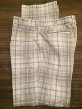Men's NIKE GOLF White/Gray Plaid Dri Fit Swoosh Pants 34X32