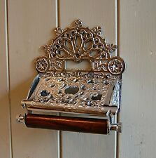Traditional Imperial Victorian style wall mounted toilet loo roll holder