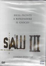 Dvd **SAW III ~ 3 ♦ L'ENIGMA SENZA FINE** nuovo sigillato 2007