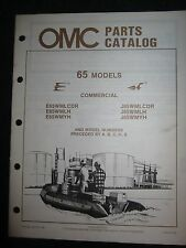 1986 OMC Evinrude Johnson Outboard Parts Catalog Manual 65 HP Commercial