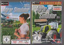 Agrar Simulator 2012 Bauernhof Schlepper Traktor Viehzucht + Agrar 2011 PC