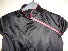 Vestido De Fiesta Tom Wolfe Negro Satinado Al cuerpo Elastizado Oriental