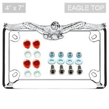 Chrome Eagle License Plate Frame Locking Screw Cap Kit REFLECTOR for Motorcycle