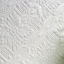 Textured, Highly Durable white paintable wallpaper 10m (Howard Design)