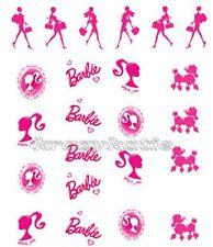 Barbie Girl Pink Poodie Waterslide Water Transfer Nail Art Sticker Decals