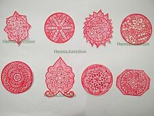 8 x Henna Reusable Rubber Stencils Henna Temporary Tattoo Body Art Design Kit