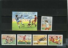 LAOS 1991 SOCCER WORLD CUP SAN FRANCISCO SET OF 5 STAMPS & S/S MNH