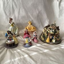 Disney Beauty & the Beast MEMORABILIA Figurine Ornament Snowglobe Music Box 7 Pc