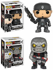 Funko POP! Games ~ MARCUS FENIX & LOCUST DRONE Vinyl Figure Set ~ GEARS OF WAR