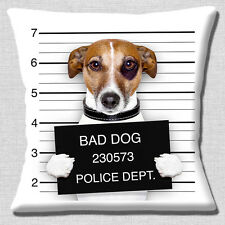 "NEW FUNNY TAN JACK RUSSELL BAD DOG LINE UP PHOTO PRINT  16"" Pillow Cushion Cover"