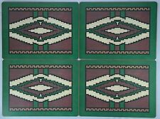Set of 4 The Pimpernel Aztec Table Mats  / Placemats w/ Coaster Backing, England