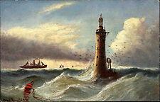 Leuchtturm Lighthouse Schiffe & Seefahrt ~1910 Schiff Dampfer Küste Schottland