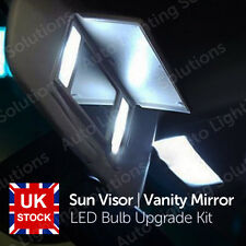 Vauxhall Astra J GTC White Sun Visor Vanity Mirror LED Light Bulb Upgrade Kit