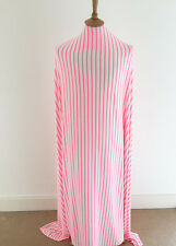 Neon Pink Striped Viscose/lycra Jersey Dressmaking Fabric--Great Quality