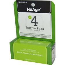 Nuage Ferrum Phos No 4 (Iron Phosphate) Homeopathic Cold/Fever Remedy, 125 Tabs