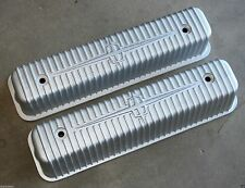 1956-1957 LINCOLN CONTINENTAL MARK II MK II ALUMINUM VALVE ROCKER COVERS PAIR