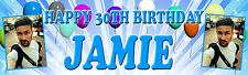 PERSONALISED GLOSS PHOTO BIRTHDAY PARTY BANNER 16th, 18th, 21st, 30th 40th 50th