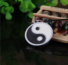 New Unisex Chain Silver Stainless Steel Yin Yang Pendant Necklace Choker Gift
