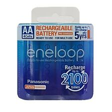 4x Panasonic Eneloop 1900mAh AA Rechargeable Batteries 2100 Cycle Genuine New MH