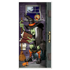 Witch Toilet Restroom Door Cover - 76 x 152cm - Halloween Party Wall Decoration