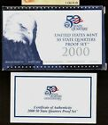 Replacement Box Clad 2000 50 State Quarters Blue Eagle Proof Box & Coa Only