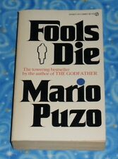 Fools Die by Mario Puzo First Edition Paperback Book 1979 in Excellent Condition
