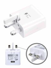 New Wall Mains Fast Charger Plug for Samsung Galxy S6/S7 Edge, S7,Note 4 5+Cabel