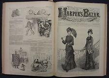 Harper's Bazar Fashion Newspaper Magazine Full Year Bound 1880