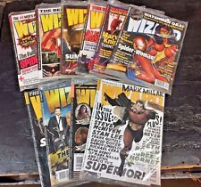 WIZARD MAGAZINE LOT of 10 STILL SEALED POLY bagged ISSUES, Later issues
