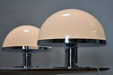 Paar elegante dekorative Chrom Kunststoff Tischlampen  70er Jahre