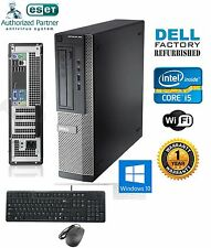 Dell Computer 390 Core i5-2400 SFF DESKTOP PC 3.10Ghz 8Gb 1TB Windows 10 Pro 64