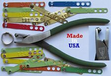 USA 500pcs NOT STAMPED Brass Leg Bands Chicken Pheasant Poultry Peacock Chucker
