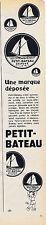 PUBLICITE ADVERTISING 084 1952 PETIT-BATEAU sous vêtement marque déposée