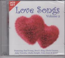 LOVE SONGS VOLUME 2 - VARIOUS ARTISTS on 2 CD's - NEW -