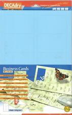Decadry SCB 7703  150 Blue  Business Cards. Make your own Business cards
