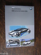 BMW IAA Frankfurt 2009 Pressemappe / Press-kit, D