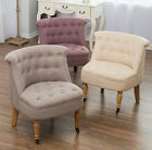 Bedroom Accent Chair Armchair Occasional Button Back Linen Boudoir Next Day