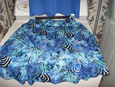 NEW WOMENS DRESS SIZE 2X 1X PLUS SIZE SKIRT & TOP 2 PIECES ROYAL BLUE RET.$90.00