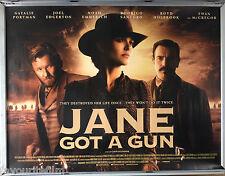 Cinema Poster: JANE GOT A GUN 2016 (Quad) Natalie Portman Ewan McGregor