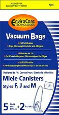 Free S/H - Miele FJM Allergen Vacuum Cleaner Bags - 5 Bags & 2 filter - Generic