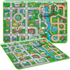 MEGA 173CM x 120CM KIDS PLAY MAT CAR CITY TOY TOWN PLAYMAT EVA FOAM WIPE CLEAN