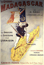 French Empire in Madagascar Africa 'La Guerre' 1895 Repro Art Print 7x5 inches