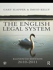 The English Legal System: 2010-2011, 0415566959, Very Good Book