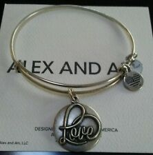 ALEX AND ANI LOVE III Russian Silver Color  Expandable Bracelet Alex and Ani