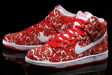 "NIKE SB DUNK HIGH PREMIUM ""RAW MEAT"".. RED/ WHITE.. MEN 7 or WOMEN 8.5"